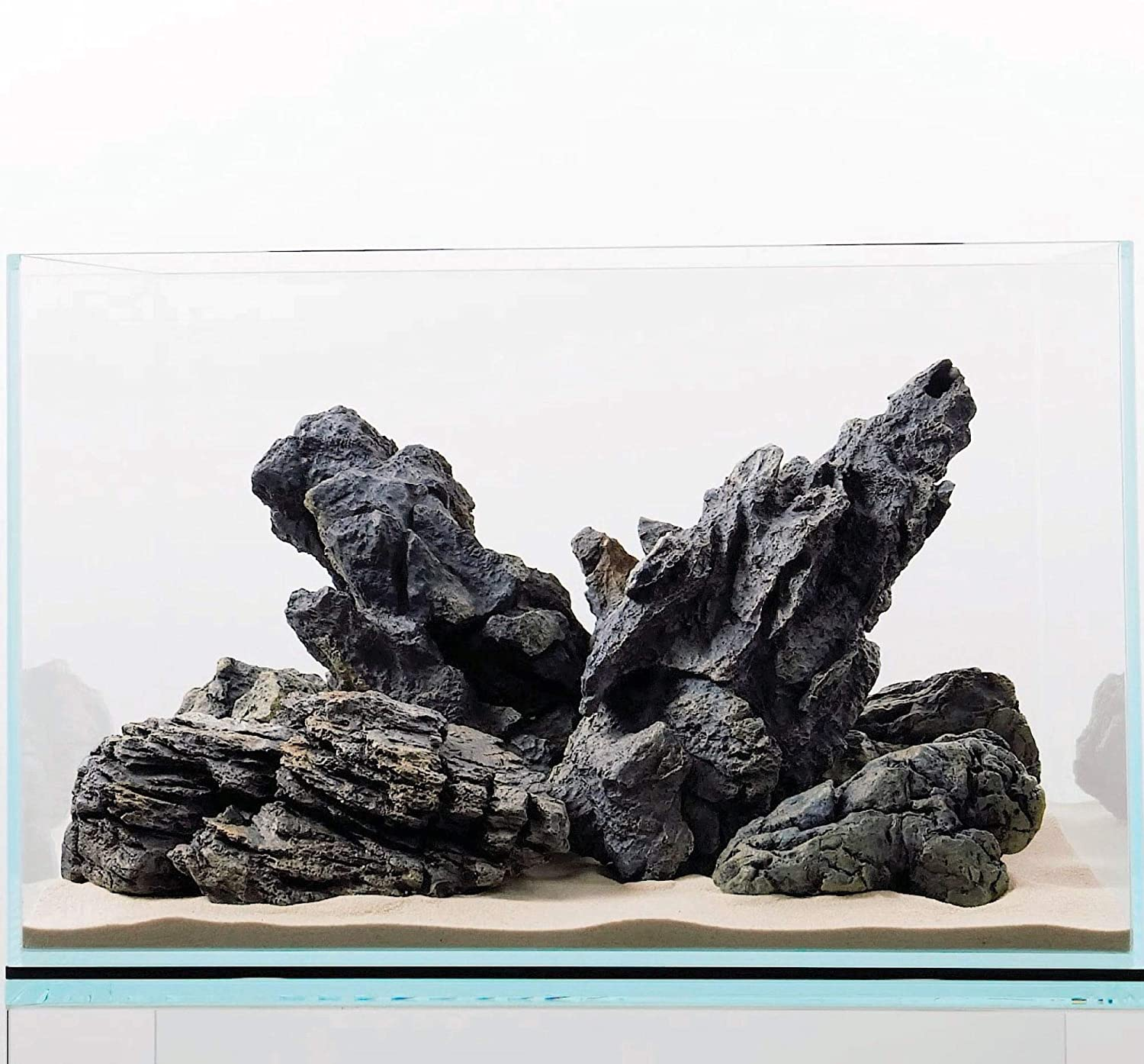 "CURRENT USA Seiryu Stone Collection 7-11 Pieces | Molded Aquarium Decor for up to 48"" Aquariums 
