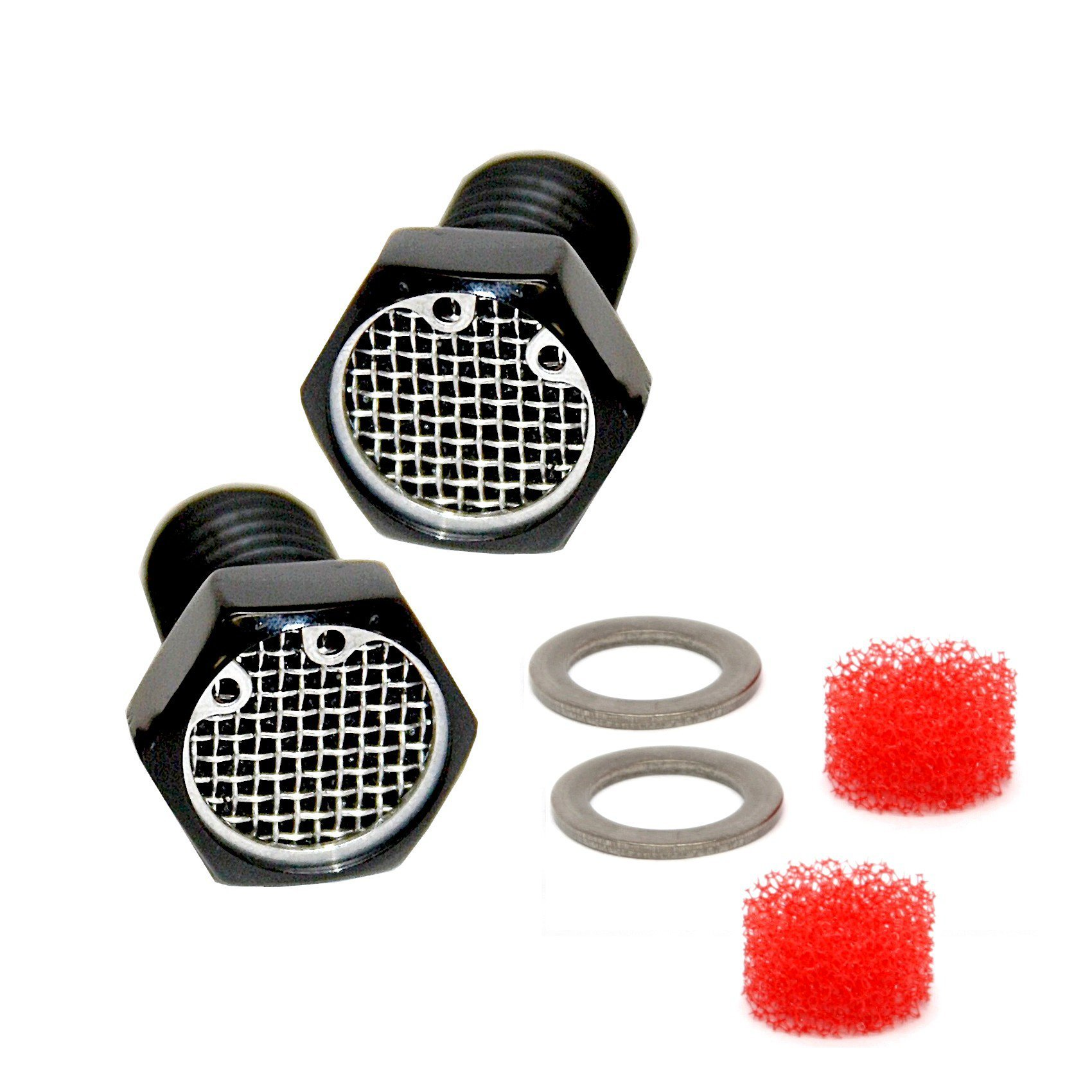 Black Harley Big Twin Breather Bolt Filter Kit