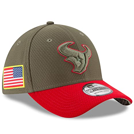 official photos eea61 f4af2 Houston Texans New Era NFL 39THIRTY 2017 Sideline  quot Salute to  Service quot  Hat S