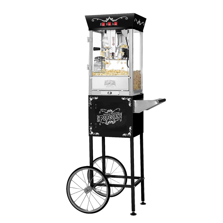 Great Northern Popcorn Black Matinee Movie 8 oz. Ounce Bar Style Antique Popcorn Machine