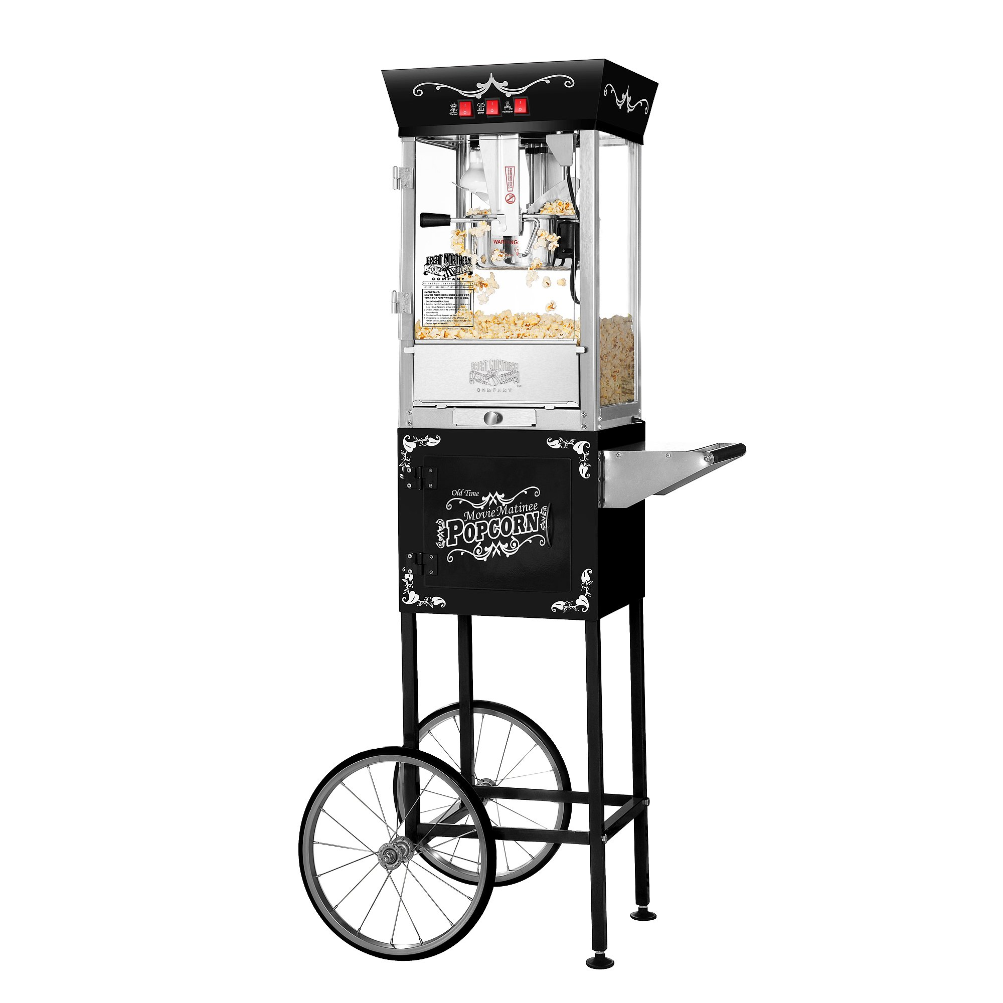 Great Northern Popcorn Black Matinee Movie 8 oz. Ounce Bar Style Antique Popcorn Machine by Great Northern Popcorn Company