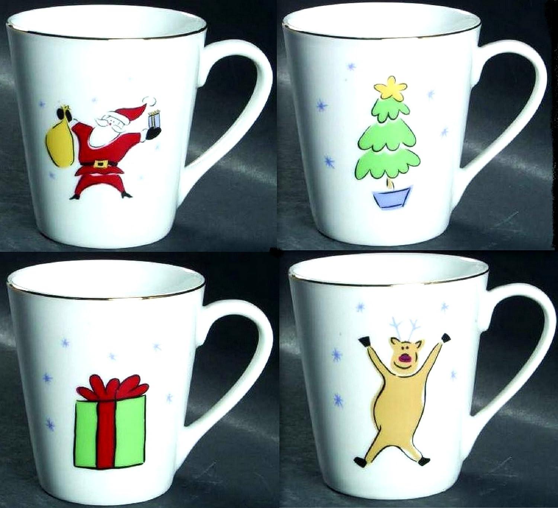 【ラッピング無料】 Merry Christmas by B0173ZA8RE Merry Brite Set of 4 4 Mugs of B0173ZA8RE, 遊岳人:8aa9789c --- a0267596.xsph.ru