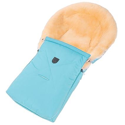 Saco cubrepiernas de piel de cordero/borreguito para capazo, carro de bebé y portabebés