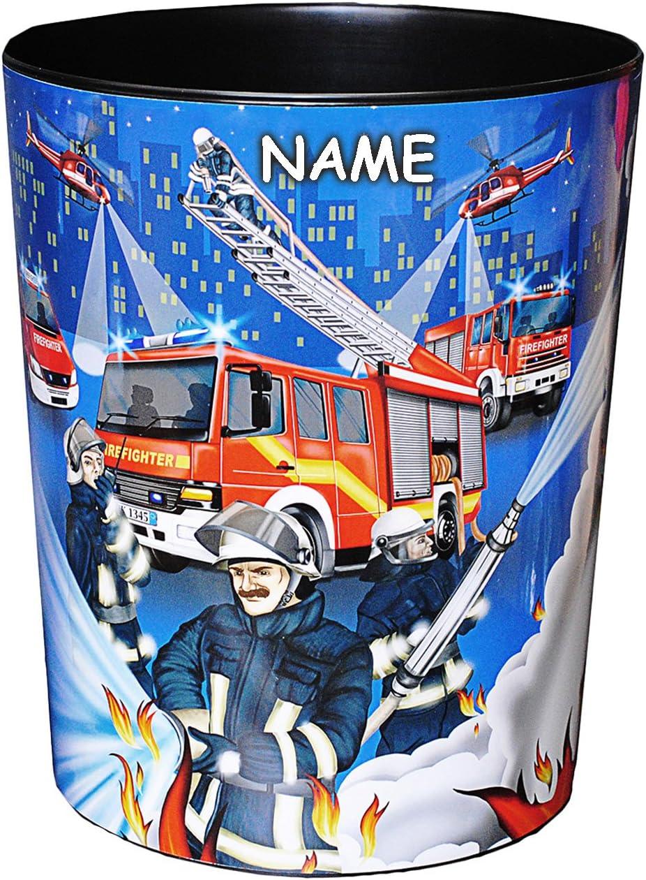 Tischunt.. incl Schreibtischset Set /_ Schreibtischunterlage /& Papierkorb alles-meine.de GmbH 2 TLG Name aus Kunststoff Feuerwehr /& Feuerwehrmann M/ülleimer // Eimer
