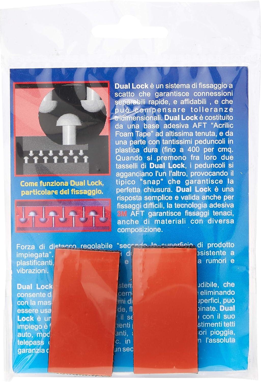 quattroerre 1637/3/m dual lock sistema de montaje desmontable tipo 4/piezas 25/x 60/mm negro