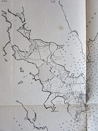 Amazoncom Eastport Harbor Lubec Johnsons Bay Maine Moose Island - Us-map-1864
