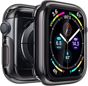 Penom Case for Apple Watch Screen Protector Series 3 2 1 38mm, Ultra Thin iWatch 38mm Screen Protector with Full Protection TPU Cover (Black, 38mm)