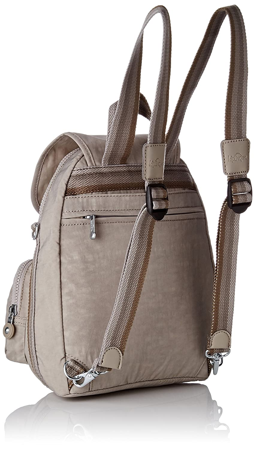 f19add8ef3 Kipling Womens Firefly Up Backpack Beige (Pastel Beige C): Amazon.co.uk:  Shoes & Bags