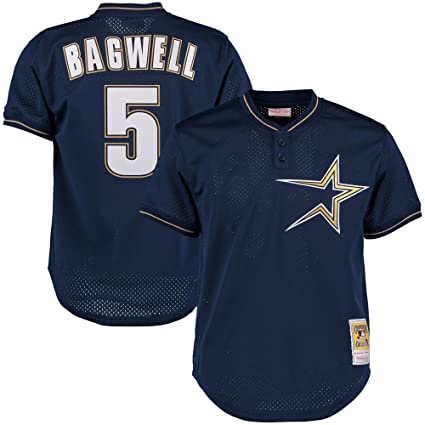 premium selection 95ef3 0ecb3 Jeff Bagwell Houston Astros MLB Mitchell &Ness Men's Navy Blue 1997  Authentic Throwback Batting Practice Jersey