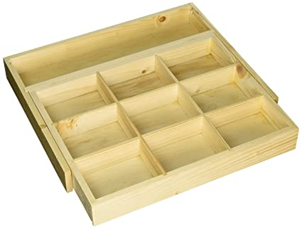 cutlery box drawers walzcraft organizer product inserts organizers wood tray beech drawer