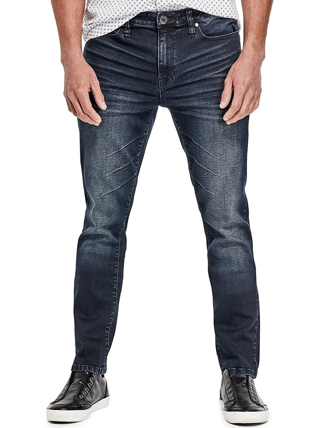 GUESS Factory PANTS メンズ B07D67QBST 33 / 32|Natural Dark Wash Natural Dark Wash 33 / 32