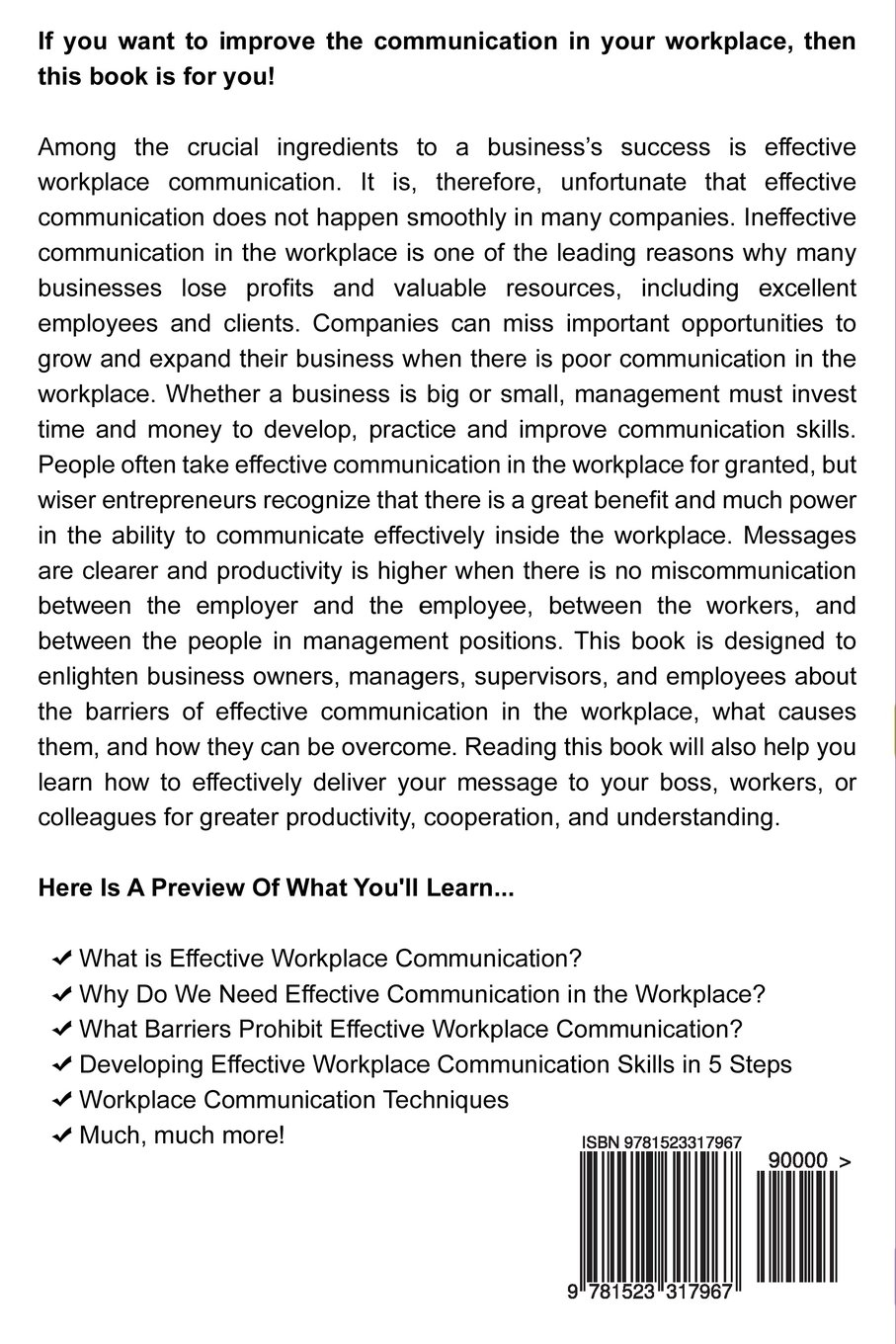 Effective Communication in the Workplace: Learn How to