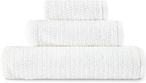 ED Ellen DeGeneres Joy Organic Towel Set, 3 Piece, White