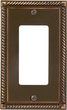 Aged Bronze Cast Georgian 1 Duplex Outlet Plate