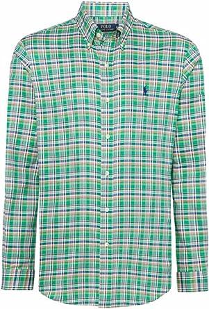 Polo Ralph Lauren - Camisa Casual - Cuadrados - para Hombre Verde Small: Amazon.es: Ropa y accesorios
