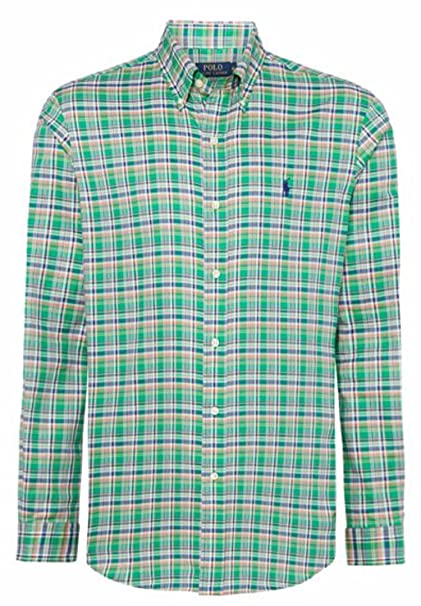 d1f965a34 Polo Ralph Lauren - Camisa Casual - Cuadrados - para Hombre  Amazon.es  Ropa  y accesorios