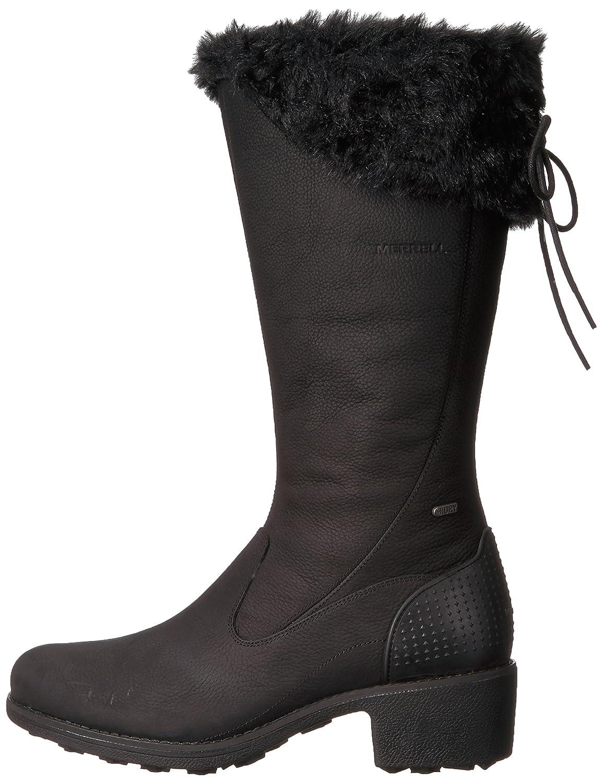 Merrell Women's Chateau Tall Zip Polar Waterproof Snow Boot B01NBL2R8D 11 B(M) US|Black