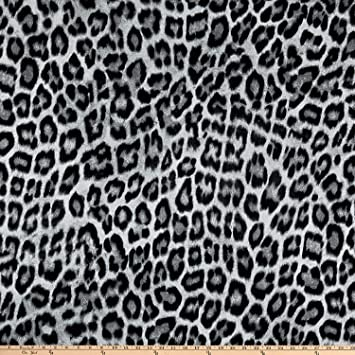 d28f37c28b1 Amazon.com: Fabric Mart Animal Print Jersey Knit Fabric, Black/Gray ...