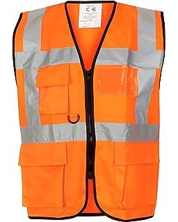 Orange Supertouch 32386 Zipped Hi Vis Vest 3X-Large