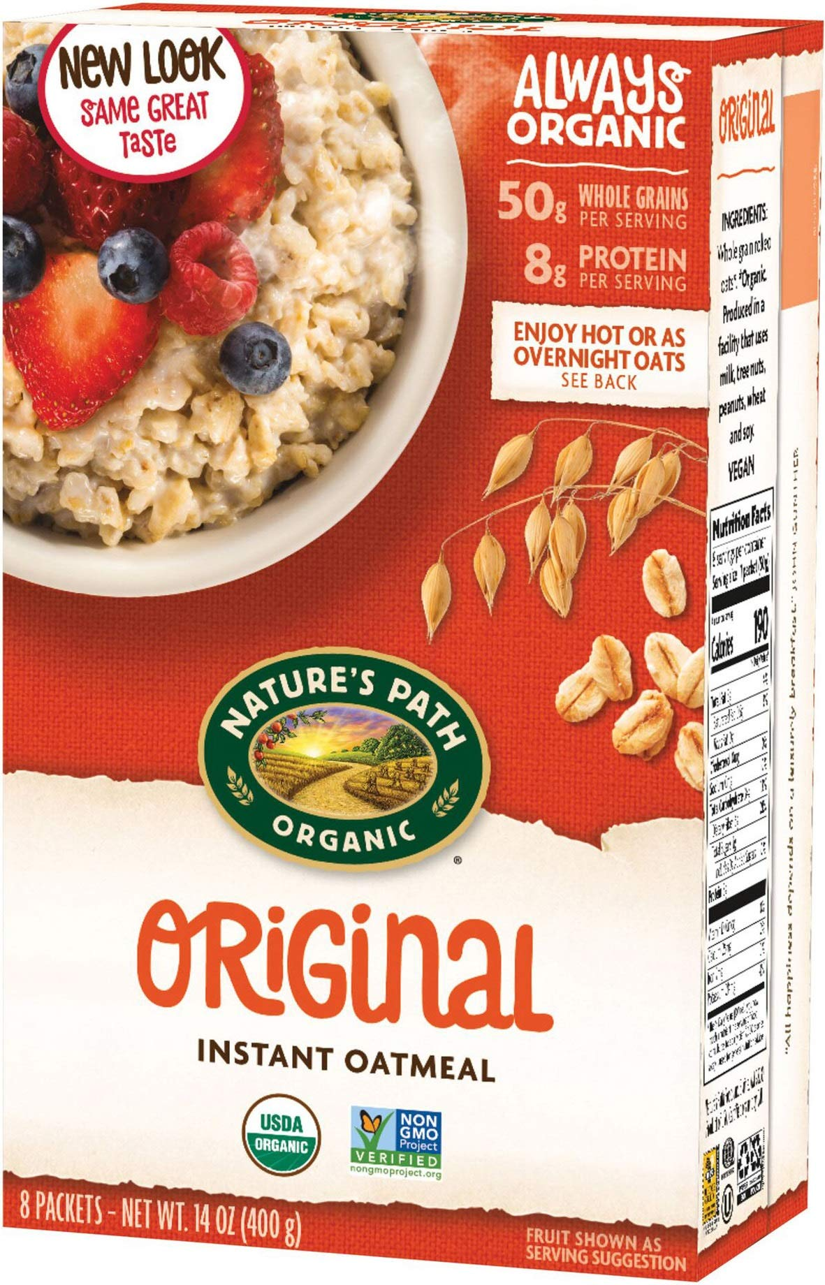Natures Path Cereal Hot Orgnl Org 8ct