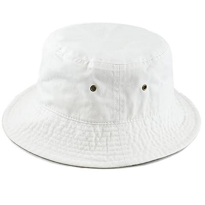3a885dee68b ... THE HAT DEPOT 300N Unisex 100% Cotton Packable Summer Travel Bucket Hat  (S  ...