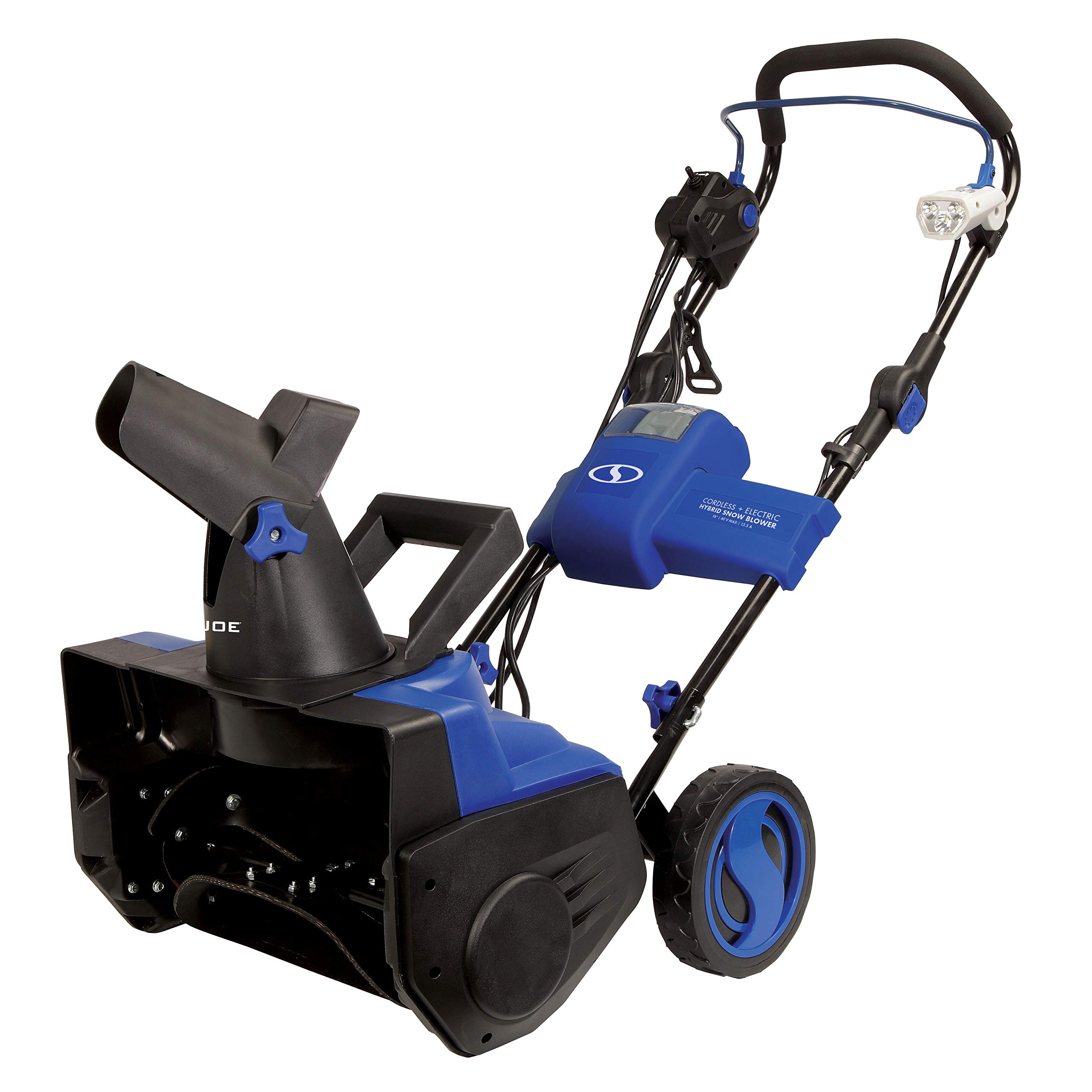 Snow Joe iON18SB-HYB-RM Hybrid Single Electric Snow Blower (Renewed) by Snow Joe