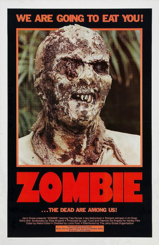 Zombie 1979 24x36 horror movie poster