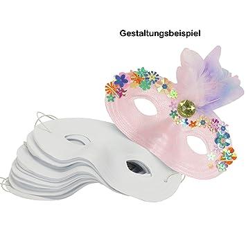 Trendmarkt24 Kinder Halb Masken 12 Stuck Aus Kunststoff 16x9 Cm