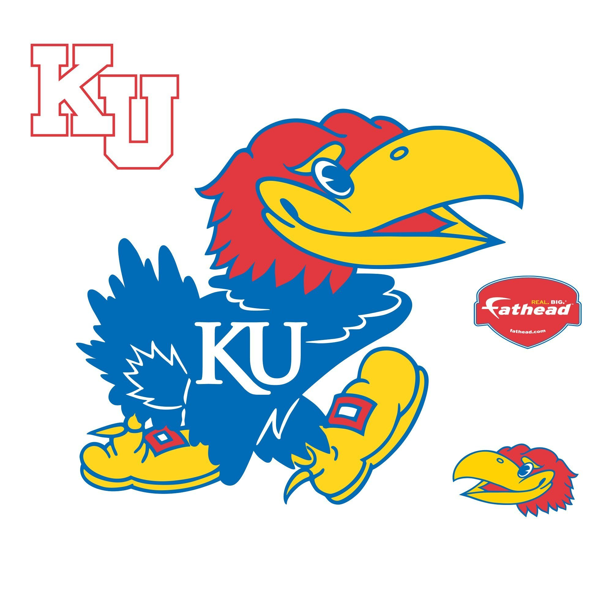 NCAA Kansas Jayhawks Logo Wall Decal