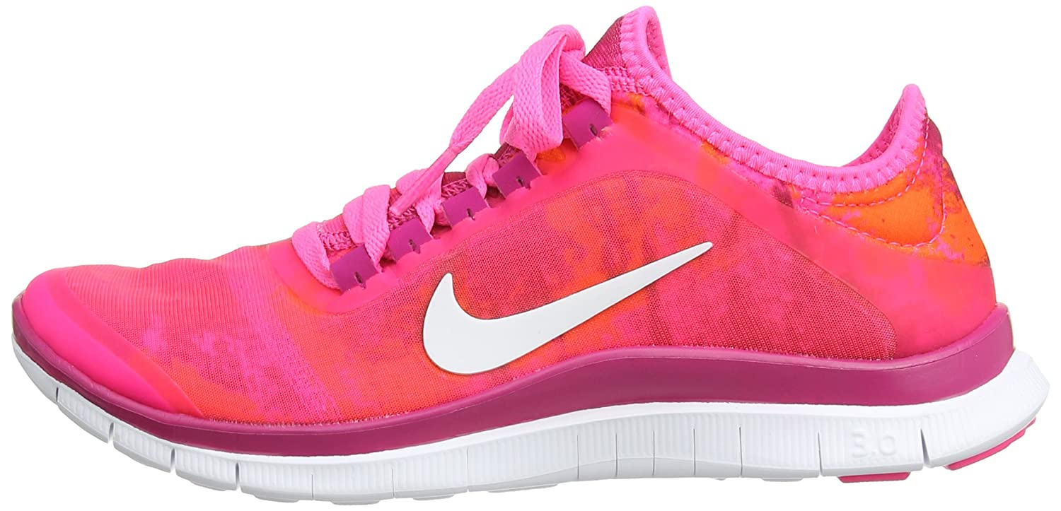 Nike Free 3.0 V5 Ext Print, Women's Running Shoes, Pink (Pink  Pow/White/Frbrry/TTL Orng), 6.5 UK (40 1/2 EU): Amazon.co.uk: Shoes & Bags
