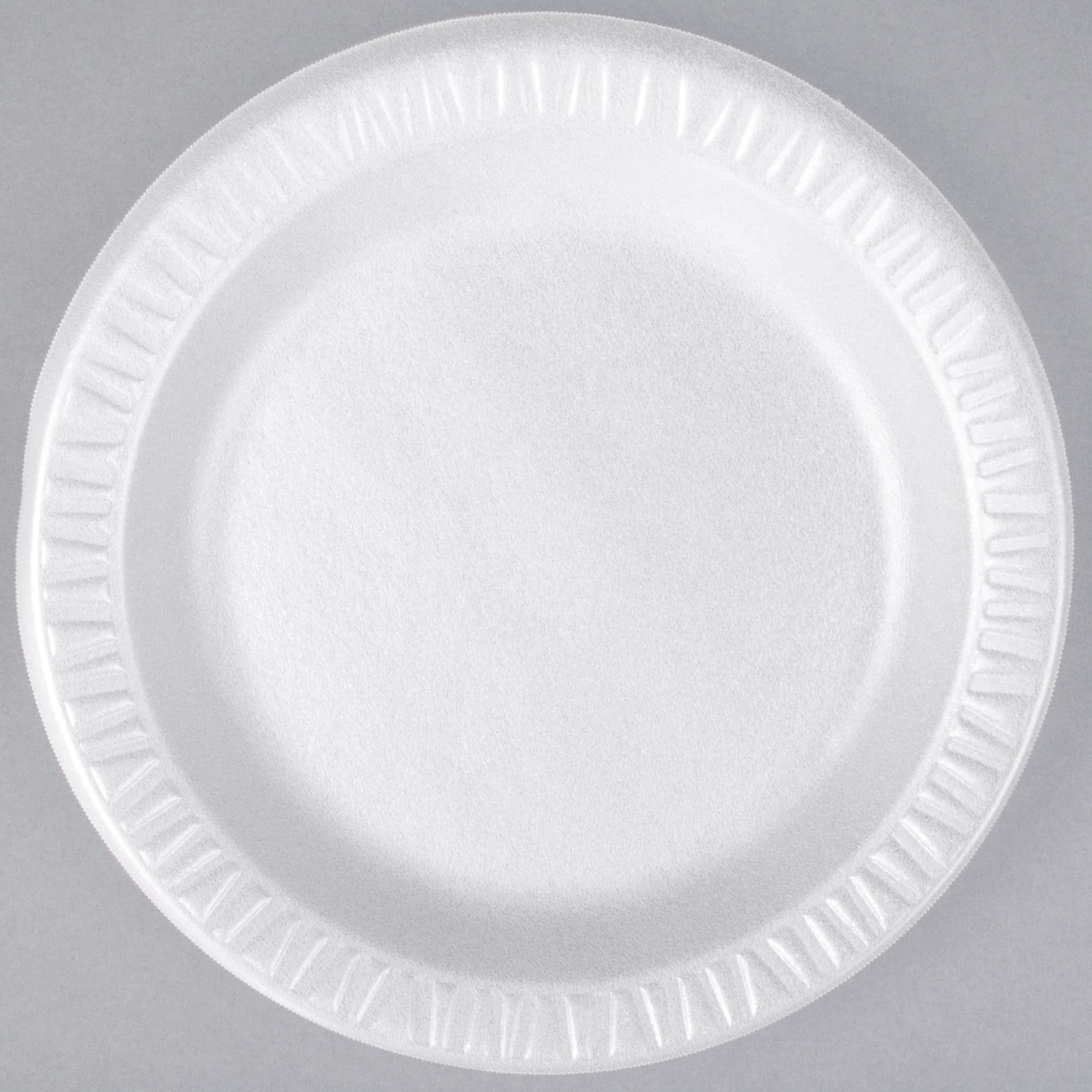 TableTop King 7PWQR Quiet Classic 7'' White Laminated Round Foam Plate - 1000/Case by TableTop King