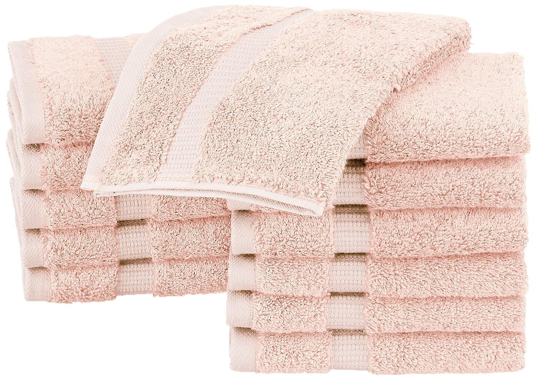 Asciugamani da bagno in tessuto misto cotone biologico Pinzon Bianco set da 4 pezzi
