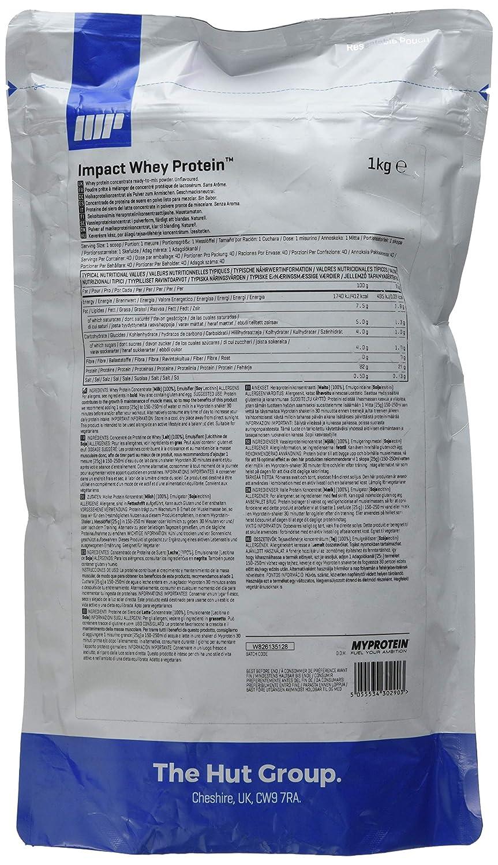 MyProtein Impact Whey Proteína de Suero - 1000 gr: Amazon.es: Salud y cuidado personal