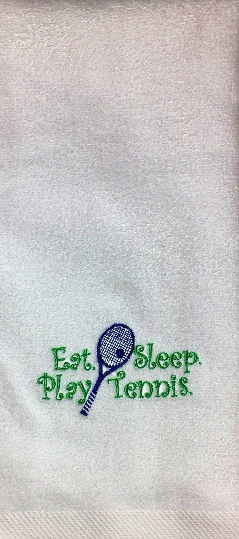 Amazon.com: Anvil Eat. Sleep.Tennis Hand Towel: Home & Kitchen
