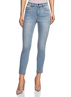 40a11852fb828 oodji Ultra Femme Jean Skinny Taille Haute: Amazon.fr: Vêtements et ...