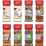 Club House, Quality Natural Herbs & Spices, Pantry Staples Pack, 8 Count (garlic powder, onion powder, chili powder, cinnamon