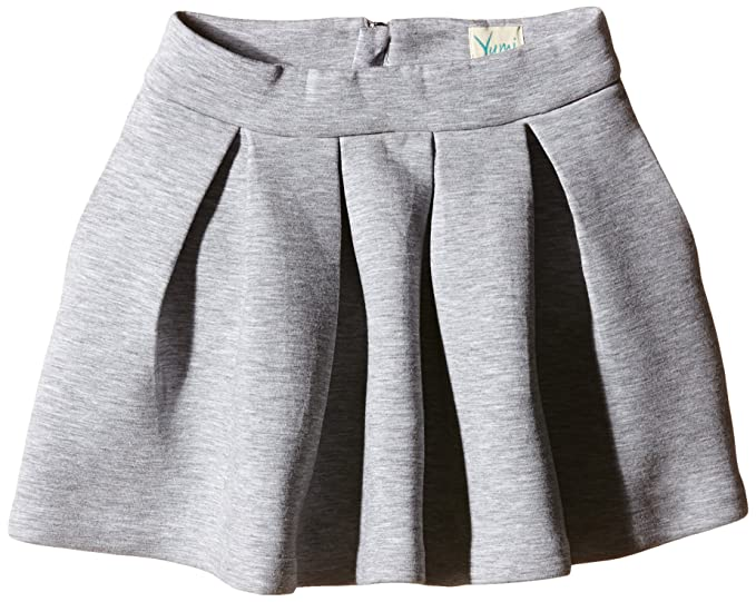 Yumi Neoprene Box Pleat Skirt - Falda para niñas, color gris ...