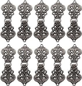 MILISTEN 10 Pares de Clips de Suéter Vintage Cierres de Suéter Protector de Suéter Rebeca Clips de Chal Clips para Rebeca Suéter Ropa Abrigo Vestido (Negro)