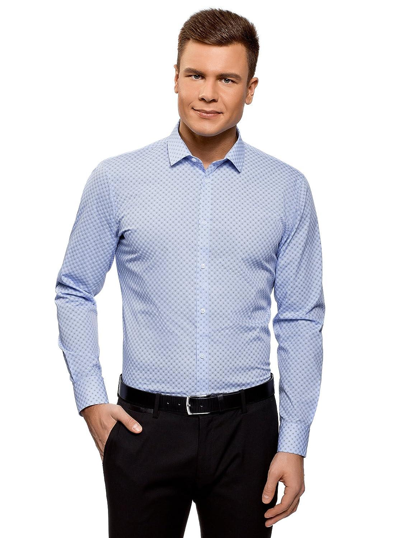 oodji Ultra Uomo Camicia Basic in Cotone RIFICZECH s.r.o. 3B110026M