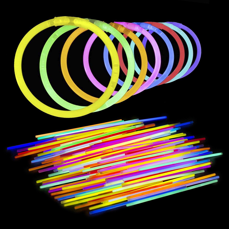 Lumistick ULTRABRIGHT 300 Count 8'' Light-Up Premium GlowSticks/Bracelets - Longest Lasting Glow Sticks - Comes Bracelet Connectors - Perfect Birthdays, Parties, Halloween & More!