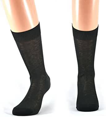 Fontana Calze - 12 pares de calcetines para hombre, corte 100% algodón, hilo de Escocia antracita Talla única: Amazon.es: Ropa y accesorios