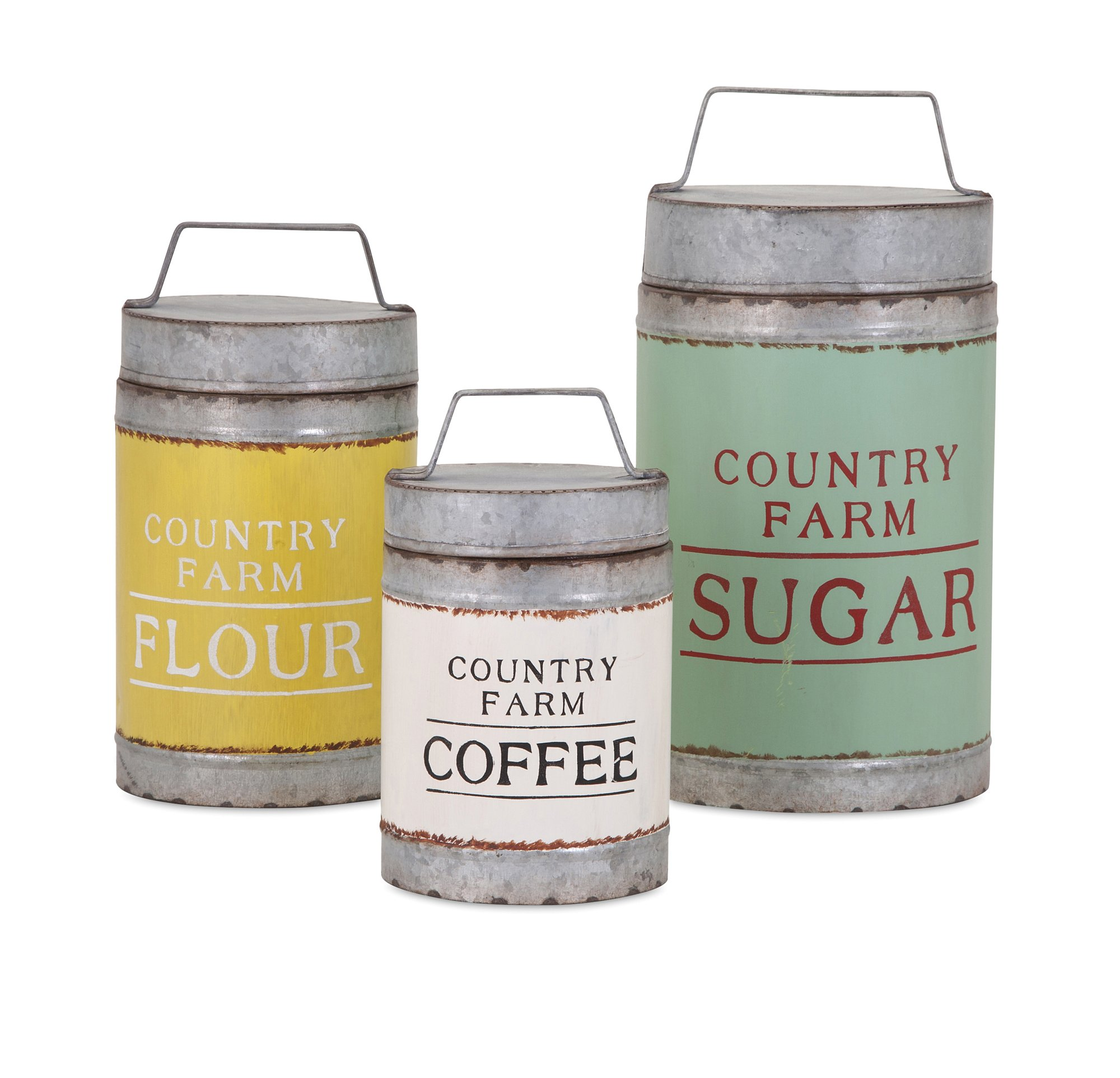 Imax 88665-3 Dairy Barn Decorative Lidded Containers-Set of Three by Imax