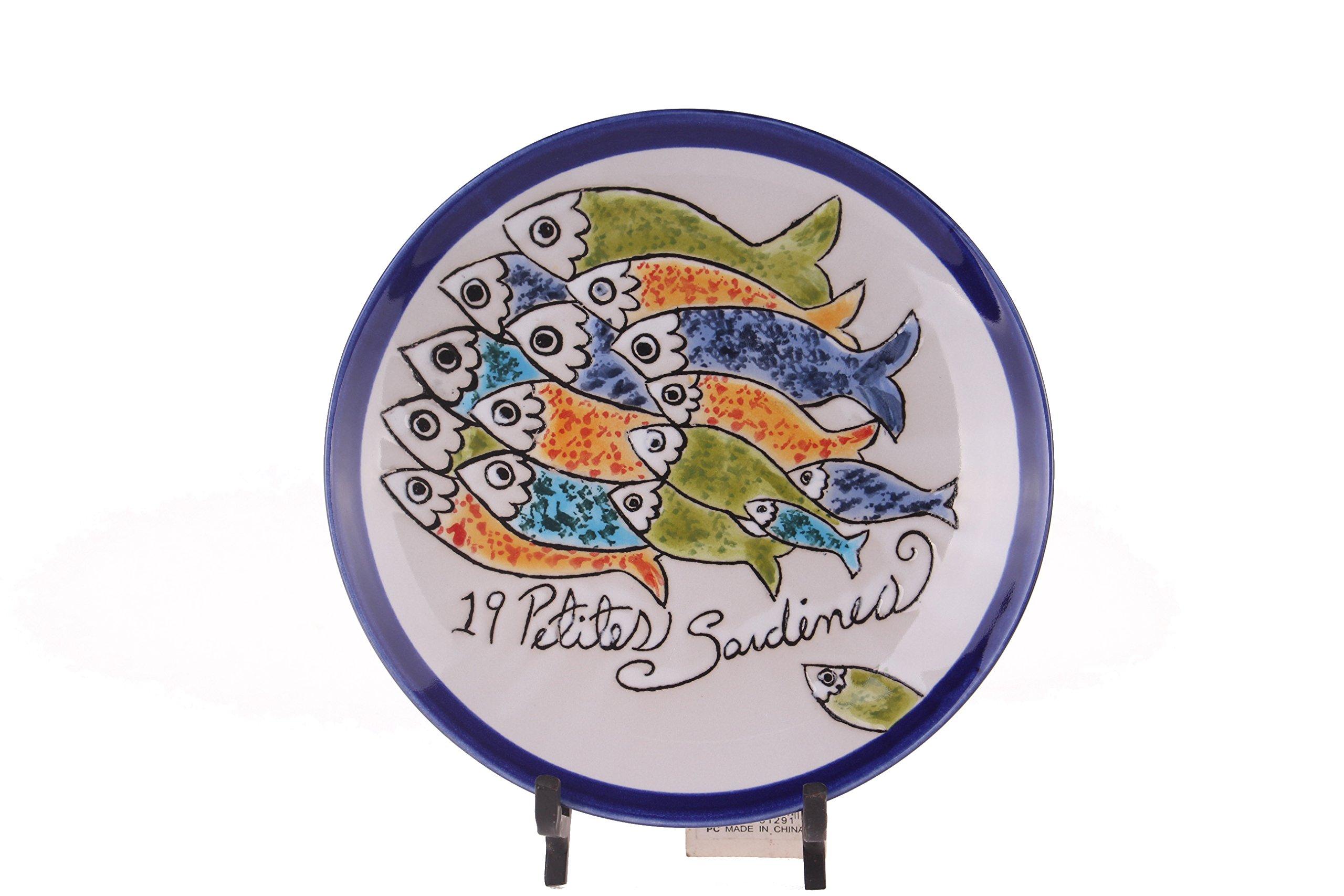 Blue Sky Ceramic Sardine Salad Plate, 7.5''