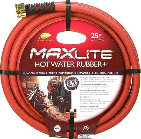 Delicieux Swan Products ELSGHW58025 MAXLite Hot Water Garden Hose, 25 Ft, Red