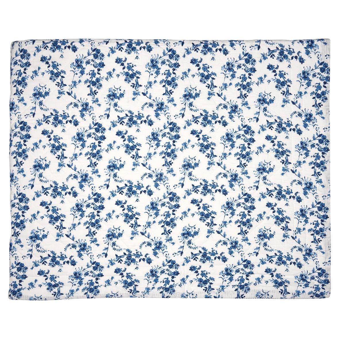 GrünGate QUIBED140VAN2502 Vanessa Tagesdecke Blau 140 x 220 cm (1 Stück)