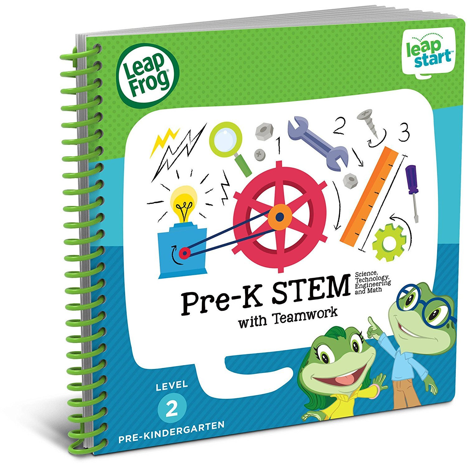 LeapFrog LeapStart Preschool, Pre-Kindergarten Interactive Learning System For Kids Level 2 Ages 2-4 With Junior Activity Books: STEM, Math, Read & Write & First Day School Fun Activity Bundle by LeapFrog (Image #3)