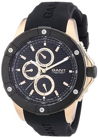 GANT W10953 - Reloj analógico de cuarzo para hombre, correa de plástico color negro: Amazon.es: Relojes