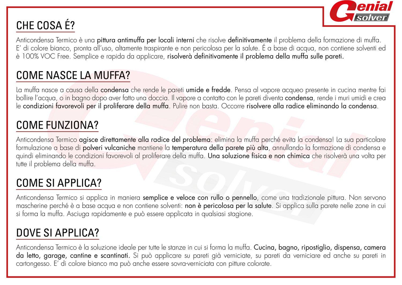 Pittura termica antimuffa - ANTI CONDENSA TERMICO 2,5L - GENIAL ...