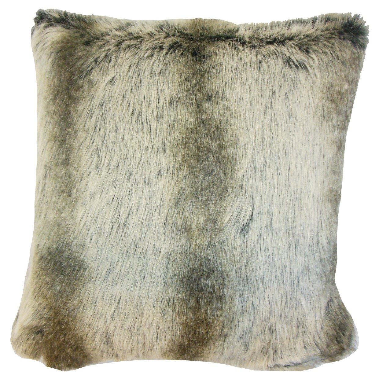 The枕コレクションp18-sf-chinchilla-gray-fauxfur Valeska Fauxファー枕、グレー   B013WWOJCW