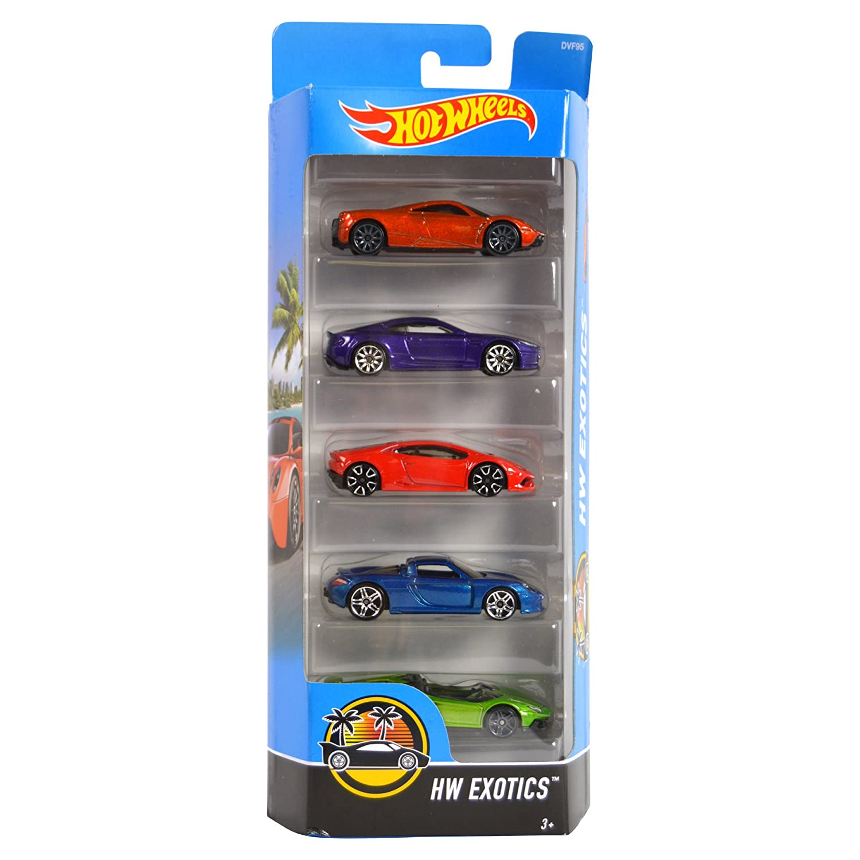 Hot Wheels 2017 HW Exotics 5-Pack Mattel RW-KN-237